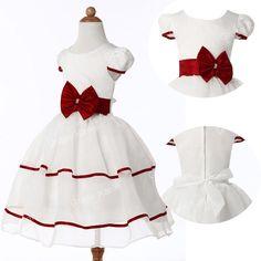 Angel GIRLS Party Dress Flower Girl Wedding Bridesmaid Age 2 3 4 5 6 7 8 9 10 11