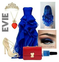 A fashion look from October 2015 featuring Ivanka Trump sandals and Valentino shoulder bags. Browse and shop related looks. Cute Disney Outfits, Disney Themed Outfits, Disney Bound Outfits, Cute Outfits, Evie Descendants, Cute Dresses, Prom Dresses, Disney Decendants, Disney Inspired Fashion