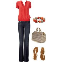 Coral, created by brandiwright78 on Polyvore