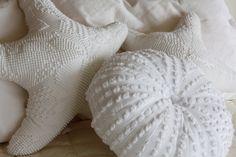 Sea urchin & starfish pillows