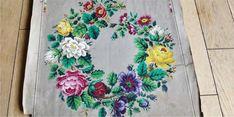 Antique Original Hand Painted Berlin woolwork Pattern Hertz & Wegener