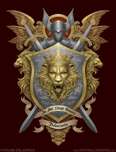 Coat of Arms- Delacroix by GoldenDaniel.deviantart.com on @deviantART