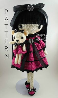 ATTENTION - Keep in mind that this is a crochet pattern in a PDF. This is NOT the finished product.  Leila is approximately 17 inches tall. Also, please keep in mind that this doll cannot stand up on its own.  This is a non-refundable purchase. Once the payment has been confirmed you will be allowed to download the pattern in a PDF. The language in the pattern is in English only. The pattern includes all of the yarn colors I used for the doll, however, you are free to experiment and use…