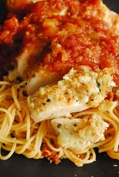 Ricotta Parmesan Chicken over Spaghetti | Tasty Kitchen: A Happy Recipe Community!