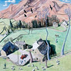 View the painting: Farm Cumbria by Francis Farmar John Galliano, Agatha Raisin Books, Clarks, Steve Madden, English Cottages, Cumbria, Lake District, Landscape Art, Farming