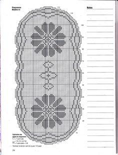 Делікатні кольори серветка гачок схема 4