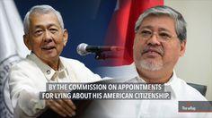 S Youtube, Rodrigo Duterte, Citizenship, Watch Video, Secretary, News Today, Appointments, Philippines, Affair