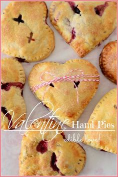 VALENTINE HAND PIES easy to make and delicious! stonegableblog.com