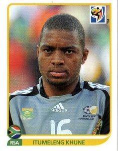 Itumeleng Khune of South Africa. 2010 World Cup Finals card. Kaizer Chiefs, Fifa, Football Stickers, World Cup Final, South Africa, Soccer Teams, African, Baseball Cards, 4 Life
