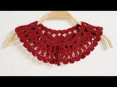 Crochet Collar, Knit Crochet, Crochet Designs, Crochet Patterns, Crochet Videos, Collar And Cuff, Knit Beanie, Crochet Clothes, Christmas Crafts