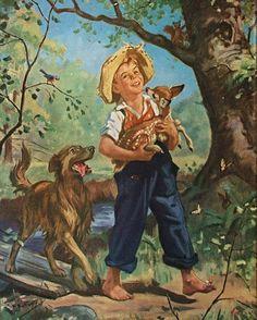Henry Hintermeistergt Grandma t Vintage Av e Ilustraes Vintage Images, Vintage Art, Arte Country, Beautiful Paintings, Oeuvre D'art, Vintage Children, Belle Photo, Art Pictures, Illustrations Posters