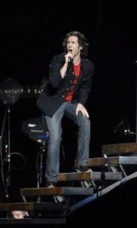 Touching Josh Groban's hand at his concert.  I know that's lame, but it made me so happy!