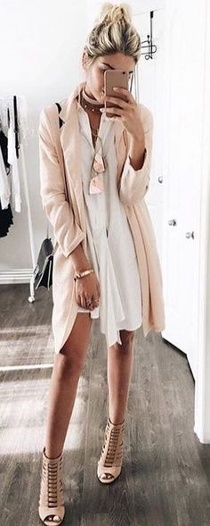 #summer #girly #outfitideas | Pastel + White