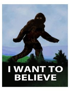 I Want To Believe Bigfoot Big Foot Sasquatch by ThoughtsToPrint
