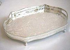 Silver serving tray - 18 inch