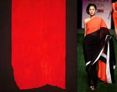 #BarnettNewman ACHILLES(1952)  #ShivanandNarresh  Linen Resort Sari