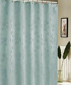 Duck River Textile Aqua Hunterdon Jacquard Shower Curtain