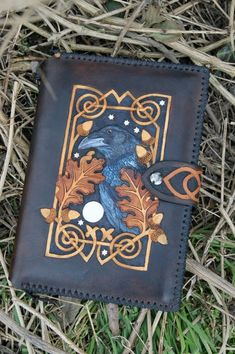 Raven and celtic knotwork journal