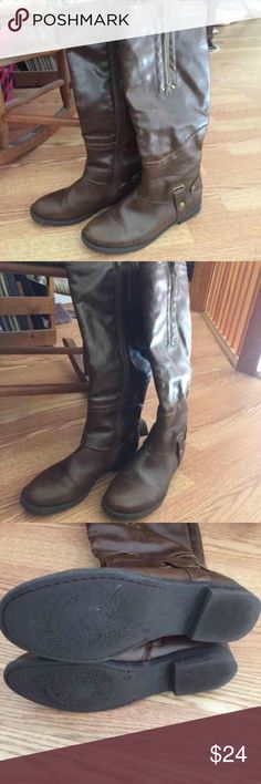 Limelight Brinkley Boots Size 8 Limelight Brinkley brown boots size 8! Super cute and like new! Worn once! I paid over $100! Check out my closet too! Shoes Over the Knee Boots