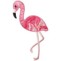 Bird Flamingo Animal Applique Embroidered Iron On Patch (€2,82) ❤ liked on Polyvore featuring extras