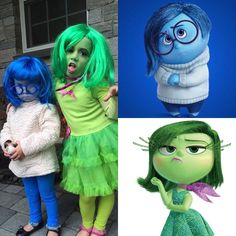 Fantastic Totally Free From Disney's Inside Out, Sadness and Disgust! Concepts From Disney's Inside Out, Sadness and Disgust! Spooky Halloween, Homemade Halloween, Creative Halloween Costumes, Vintage Halloween, Disney Halloween, Vintage Witch, Halloween Stuff, Halloween Makeup, Disney Cosplay