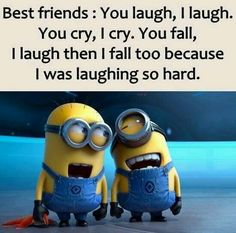 funny quotes & We choose the most beautiful Top 25 lol so True Friends Quotes for you.Top 25 lol so True Friends Quotes – Quotations and Quotes most beautiful quotes ideas Minion Humour, Funny Minion Memes, Minions Quotes, Funny Texts, Epic Texts, Minion Sayings, Lol So True, True True, Besties Quotes