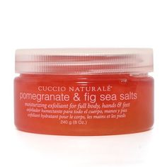 Cuccio Sea Salts Pomegranate & Fig 8 oz. by Cuccio. $12.25. The suspended salt crystals formula requires no pre-mixing prior to applying the product.. This softer, smaller grain of sea salt is great for all over the body!. The natural Dead Sea Salts are infused with essential oils that dissolve quickly and leave skin feeling soft and polished throughout the day to give that healthy glowing effect.. This finer, small grain of sea salt is great for all over the body! The sus...