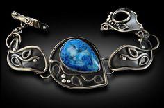 Blue Druzy Agate Bracelet Bonnie Hedden Designs