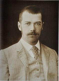 Tsarevich Nicholas Alexandrovich - he looks like he could have stepped out of the 1970's!