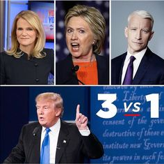 Trump still emerged the winner! When you're being honest and the other candidate hasn't done anything but destroy America it makes it easy to stay on top. Vote Trump! Accountability people!