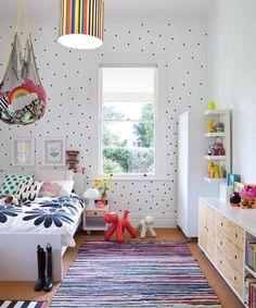 white and black polka dots, cute children's room, girls room. (scheduled via http://www.tailwindapp.com?utm_source=pinterest&utm_medium=twpin&utm_content=post595841&utm_campaign=scheduler_attribution)
