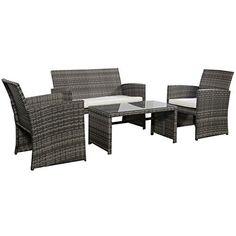Outdoor-Garden-Patio-4-Piece-Cushioned-Seat-Mix-Gray-Wicker-Sofa-Furniture-Set