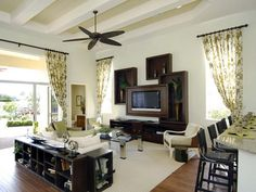 half baths, couch, famili room, room layouts, boxes, family rooms, live room, large families, decor idea