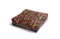 """Pet Bed  - """"The Slumber Party"""" - Bird Print in Black with Black Bottom by sweetpicklesdesigns on Etsy https://www.etsy.com/listing/488480251/pet-bed-the-slumber-party-bird-print-in"""