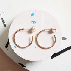 KIND Collection - 9ct Rose Gold Hidden Orbit Hoop Earrings.