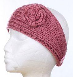 Facnos Knitted Flower Headband Hat for Women