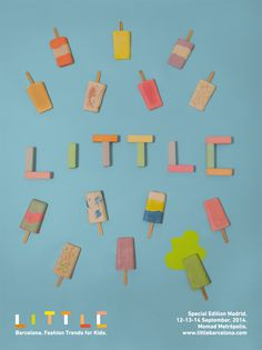 Little Barcelona. Fashion Trends for Kids. 6th Edition. Ice creams made in plaster.