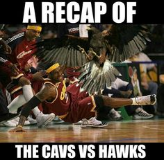 GAME RECAP: The Atlanta Hawks Defeat The Cleveland Cavaliers - http://nbafunnymeme.com/nba-memes/game-recap-the-atlanta-hawks-defeat-the-cleveland-cavaliers
