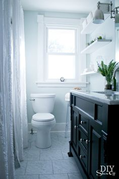 I love this bathroom makeover!