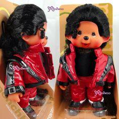 "Japan Sekiguchi Monchhichi 8"" MJ MCC Monchael Jackson Plush Red Stage Custume"