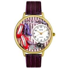 Shoe Shopper Watch in Gold (Large), Women's, Purple