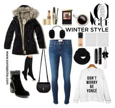 """""""Here comes Winter !"""" by soniaaicha on Polyvore featuring Ted Baker, Hollister Co., Chloé, Frame Denim, Oris, Yves Saint Laurent, Christian Dior, Isadora, prAna and MAC Cosmetics"""