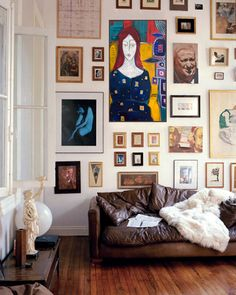 art. leather sofa. lux throw...Casa de Valentina - Blog