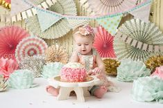 Items similar to Cake Smash Prop Cake Stand Photography Prop diameter on Etsy 1st Birthday Decorations, Birthday Ideas, Birthday Cakes, Ocean Cakes, Half Birthday, Cake Smash Photos, Photography Props, Baby Photos, First Birthdays