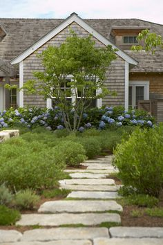 stone stepping stones; Farm Neck > Hutker Architects — Martha's Vineyard, Cape Cod and Nantucket