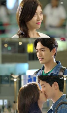 [Spoiler] 'The Time I Loved You' Ha Ji-won and Lee Jin-wook's airport kiss @ HanCinema :: The Korean Movie and Drama Database
