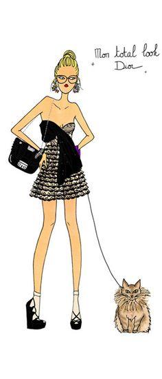 Dior total look ... angeline melin