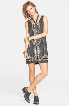 Free People 'Diamonds & Snakes' Shift Dress available at #Nordstrom