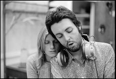 Paul and Linda McCartney on their farm in Scotland during sessions for Ram. #thebeatles