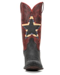 American Rebel Boot Company Women's Redneck Riviera Firecracker Boot - Vintage Black & Red  http://www.countryoutfitter.com/products/85363-womens-firecracker-boot-vintage-black-and-red